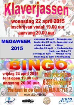 Affiche Bingo Klaverjas 2015