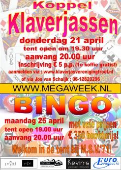 Affiche Bingo Klaverjas 2016