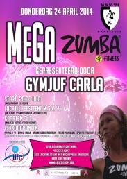 Affiche Mega Zumba Avond 2014 web