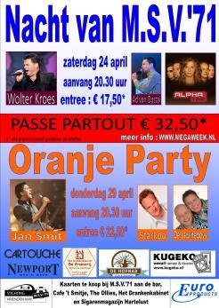 Affiche Nacht Oranje 2010 nieuw