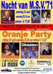 Affiche Nacht Oranje 2011