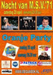 Affiche Nacht Oranje 2012 sponsor