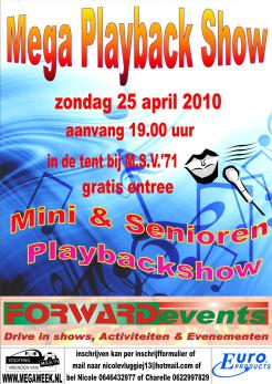 Affiche Playback Show 2010