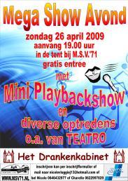 Affiche Show Avond 2009