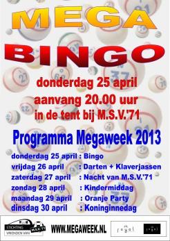 Affiche Bingo 2013